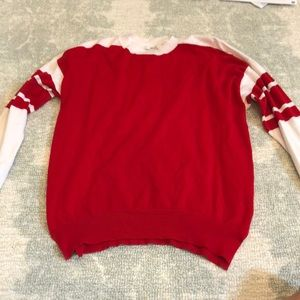 Forever 21 Red and White Sweater